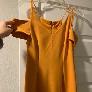Antonio Melani Mustard Cold Shoulder Dress
